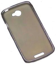 Silikon TPU Handy Hülle Cover Case Schale Schutzhülle in Smoke für HTC One X