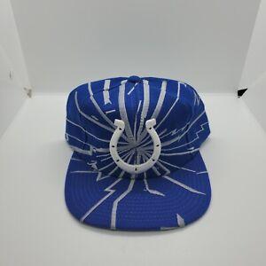 VTG 90s~Indianapolis Colts~Starter NFL Pro Line Snapback Hat Collision Lightning