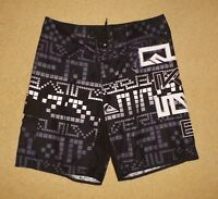 QUIKSILVER 36 Mens Boardshorts Mens Boardies Black Grey White Pre Owned Clean