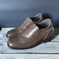 """Calden Height Discrepancy 2"""" Lift Shoes Brown Leather Slip On Mens US10"""