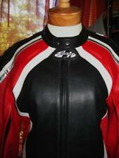 JOE ROCKET Jacket Vintage Chrome Leather W Pockets AND PROTECTION Lined Size 46