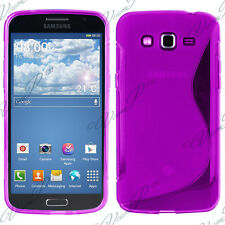 Housse etui coque TPU silicone gel S Samsung Galaxy Core 4G LTE G386F Violet