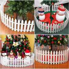 25PCS PICKET FENCE CHRISTMAS TREE FENCING BORDER HOME YARD GARDEN LAWN EDGING UK
