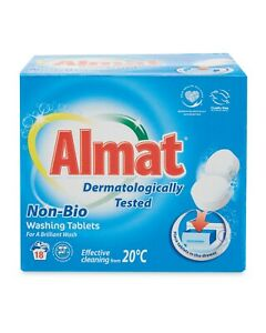 Almat 36 Non-Bio Washing Tablets Laundry Clothes Washing Capsules
