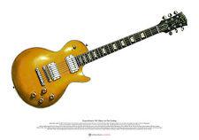 Duane Allman's 1957 Gibson Les Paul Goldtop ART POSTER A2 size