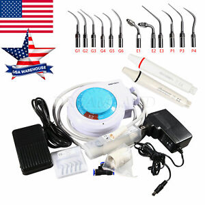 FDA Dental Ultrasonic Scaler Machine Fit EMS TIPS Handpiece USA UPS