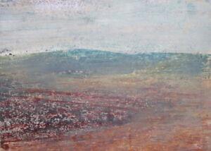 Vintage pastel drawing landscape