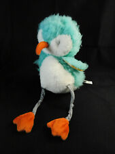 Bunnies by the Bay Piper the Sandpiper  Aqua White Plush Stuffed Toy