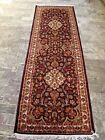 Amazing Purple Lilac Rare Hand Knotted Wool Silk Carpet Runner Rug (8 x 2.6)'