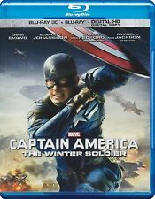 Captain America: The Winter Soldier (Blu-ray Disc, 2014, 2-Disc Set; 3D/2D)