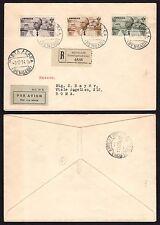 STORIA POSTALE Colonie CIRENAICA 1934 Raccomandata PA da Bengasi a Roma (GB1)