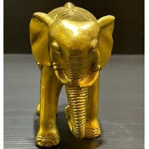 LOVELY ANTIQUE BRASS WONDERFUL ELEPHANT STATUETTE