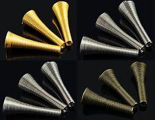 Perlenkappen Zierkappen Metall Kegel Röhre für Ketten DIY - 27mm x 9mm, 10 Stück
