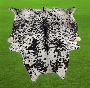 """100% New Cowhide Rugs Area Cow Skin Leather (63"""" x 60"""") Cow hide WWL-39"""