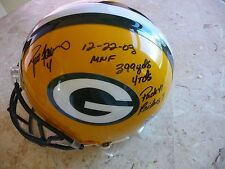 Brett Favre Auto Helmet 2003 Monday Night Packers-Raiders 399 yds,4 TD's, 97/399