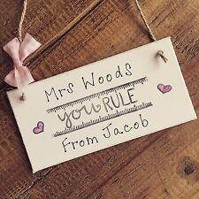 Personalised Teacher Gift Present Thank You Nursery PreSchool Childminder Plaque