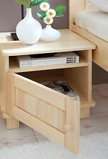 Chevet table de nuit 1 compatiment 1 tiroir BORA pin naturel