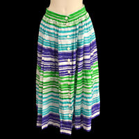 Christian Dior MD2BC0870 #13 Striped Skirt White 100% Cotton Authentic 00158