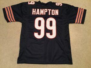 UNSIGNED CUSTOM Sewn Stitched Dan Hampton Blue Jersey - M, L, XL, 2XL