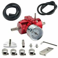 Auto Adjustable Fuel Pressure Regulator Kit+Gas Hose + 0-140  PSI Gauge Red