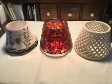 3 Home Interiors Ceramic Candle Shades