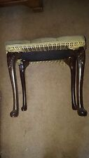 Antique Emerald Green Vintage Dressing Table Stool With Tassels