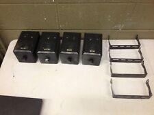 Set of 4 Linear Dynamics 403 A Black Bookshelf Speakers w/ Mounts 40watt 6ohm