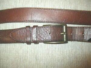"""TRENT NATHAN  MENS  AUSSIE DESIGNER QUALITY STRONG BROWN LEATHER BELT 40"""" VGC"""