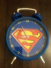 "DC Comics SUPERMAN Alarm Clock 12"" Tall Jumbo Wall / Desk"