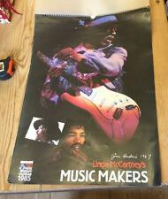 More details for linda mccartney's music makers 1985 calendar used hendrix beatles who clapton ++