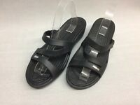Crocs Womens Strappy Rubber Sandals Black, Size 10 US G