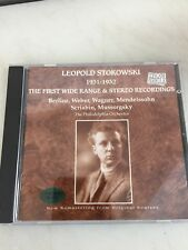 LEOPOLD STOKOWSKY - The first wide range & stereo recordings IRON NEEDLE CD NM