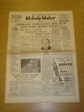 MELODY MAKER 1936 AUG 22 AMBROSE MAX BACON NAT GONELLA BIG BAND SWING