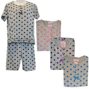 2tlg Damen Schlafanzug Velour Pyjama Samtweich Shorty Spitze Schorts Nachtwäsche