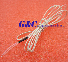 10Pcs Reprap Ntc 3950 Thermistor 100K + 1 Meter wire for 3D Printer Bed Hot End