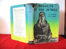 BIGGLES IN THE JUNGLE 1947 1st Australian Edition HCDJ  WE Johns TERENCE CUNEO