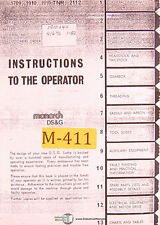 Monarch Ds&G, 1920 x 40, Lathe Operators Instructions and Parts Manual 1982