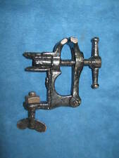 Vintage/Antique Small Metal TABLE / BENCH MOUNTED VISE CLAMP...RARE...Very Cute!