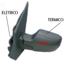 SPECCHIO SPECCHIETTO RETROVISORE ELETTRICO SX FORD FUSION 2002 - 2005 NERO TERM