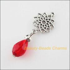 DY041# 50Pcs Enamel Alloy Red Cherry Pendant DIY Bracelet Necklace 18x8mm