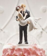 """""""Swept Up in His Arms"""" Wedding Cake Topper CUSTOMIZATION AVAILABLE Holding Cute"""