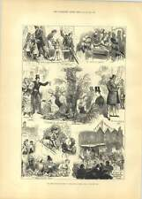1881 Ye Olde English Fair Royal Albert Hall Sketches Wheel Of Fortune Horse Deal