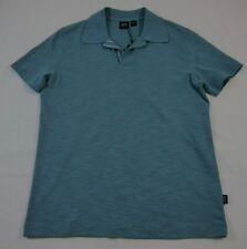 Hugo Boss Orange Blue Collared Short Sleeve T-Shirt Sz S $95 BNWT 100% Authentic