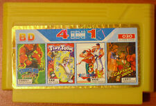 Famicom NES 4 in 1 Turtles Fighters Tiny Toon Double Dragon III Captain America