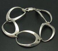 Stilvolles Sterling Silber Armband Ellipsen massiv punziert 925 handgefertigt