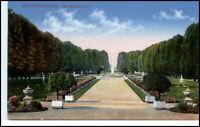 1911 Stempel SCHWETZINGEN a/ AK Partie im Schlossgarten