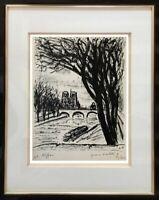 AFFICHISTE DE RENOM (XX°) LITHOGRAPHIE ORIGINALE NOTRE-DAME DE PARIS 1950 (103)