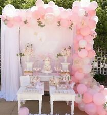 Swan Pink, White & Rose Gold Confetti Balloon Garland Kit-Party Decorations 3M