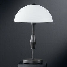 Lampe de Table Type Led Lampes de Chevet Landhausttil Verre de Opale Hedda