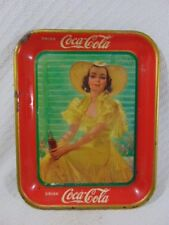 """Antique Collectible 1938 Coca-Cola """"Girl In The Afternoon"""" Serving Tray"""